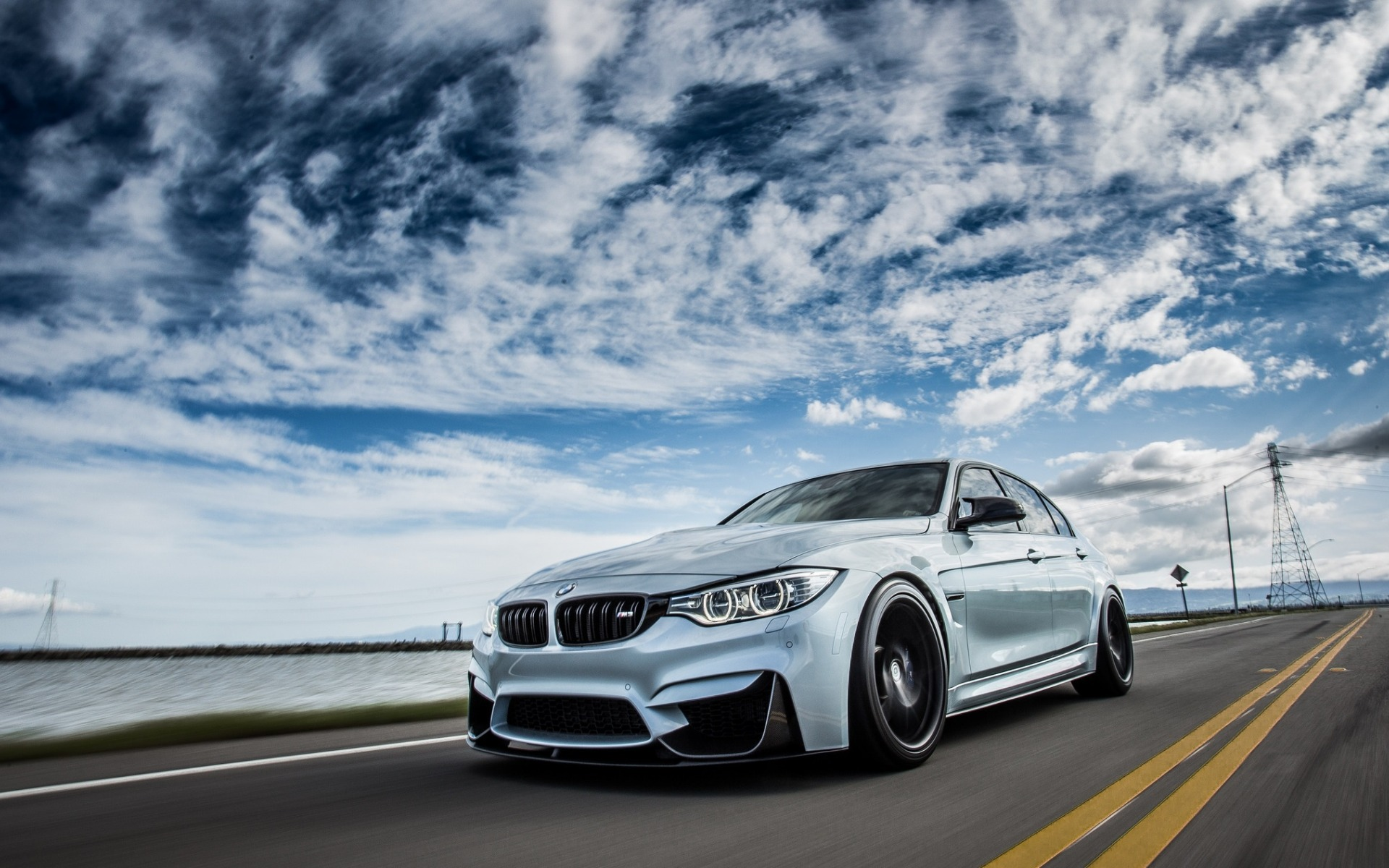 Bmw M3 2018 F80 Exterior Road Speed Front View Bmw M3 2018 On The Road 1920x1200 Wallpaper Teahub Io