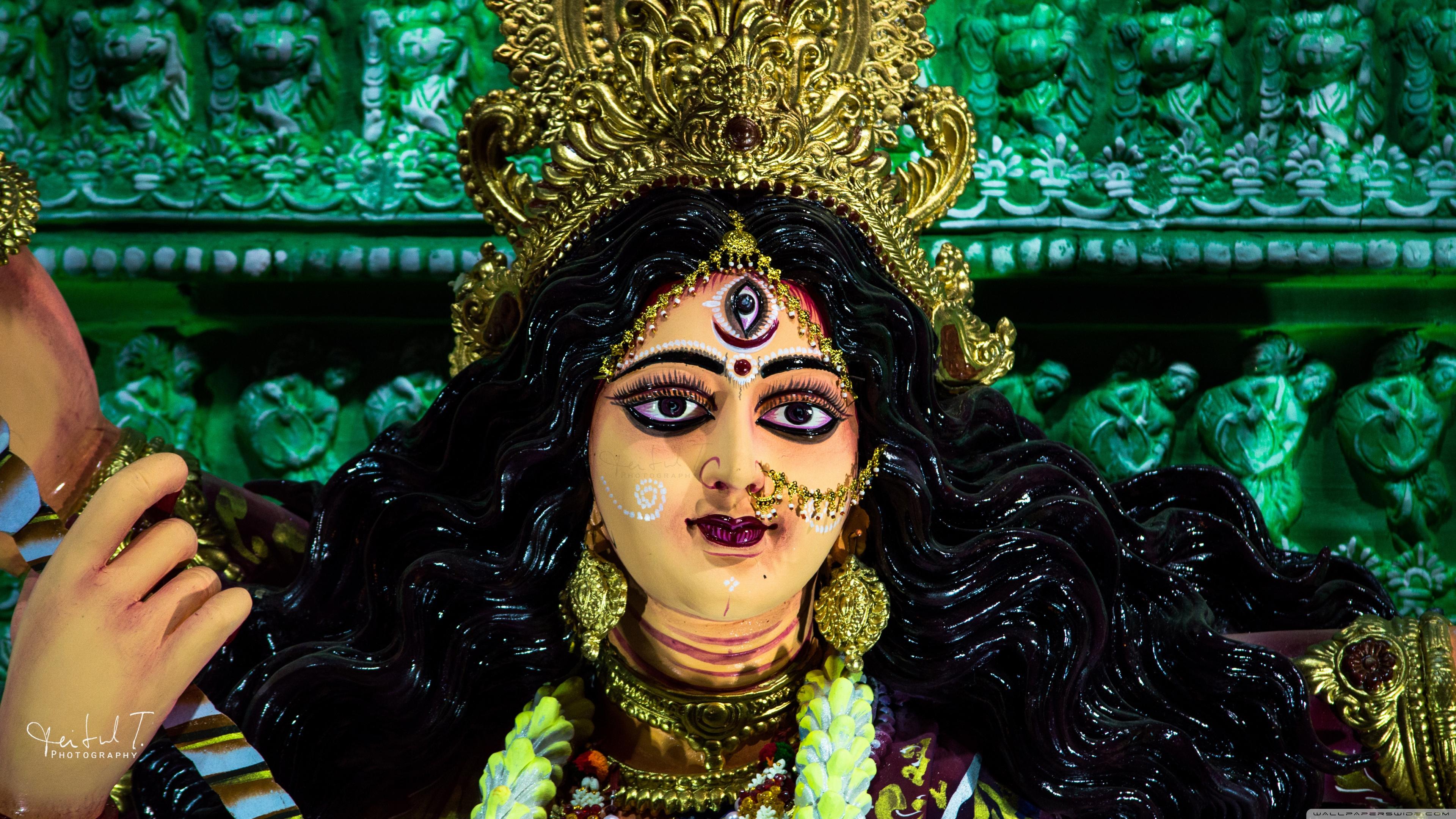 Durga Maa Image 4k 3840x2160 Wallpaper Teahub Io