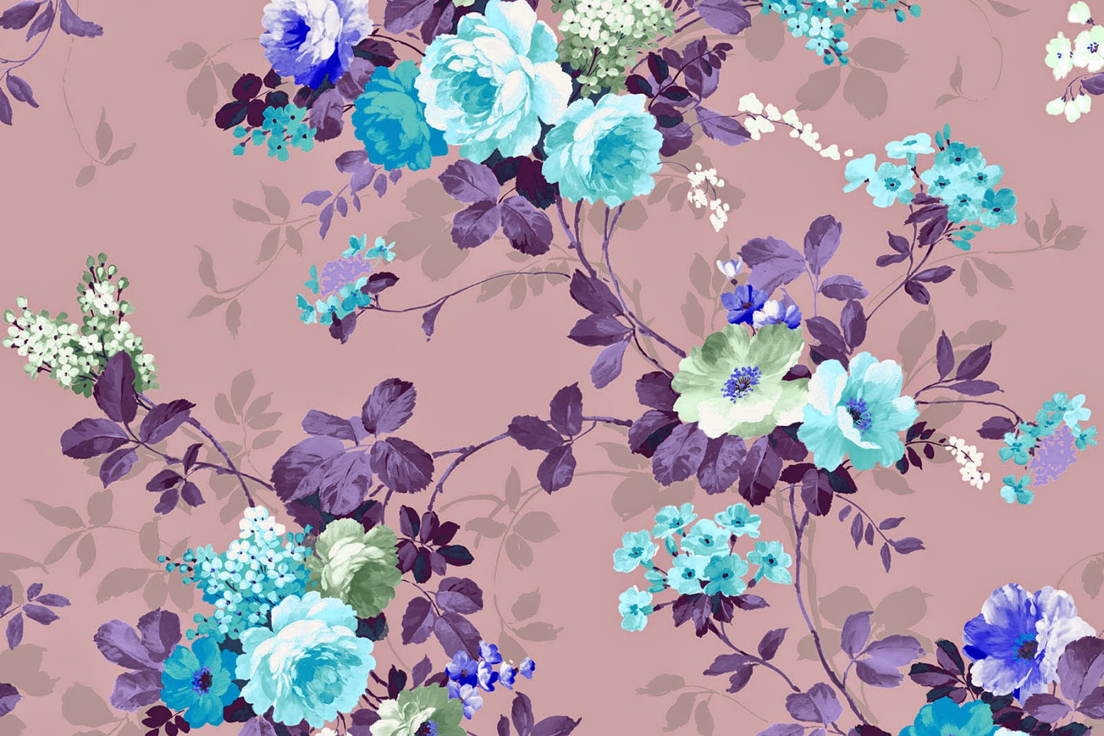 Vintage Floral Desktop Background - HD Wallpaper