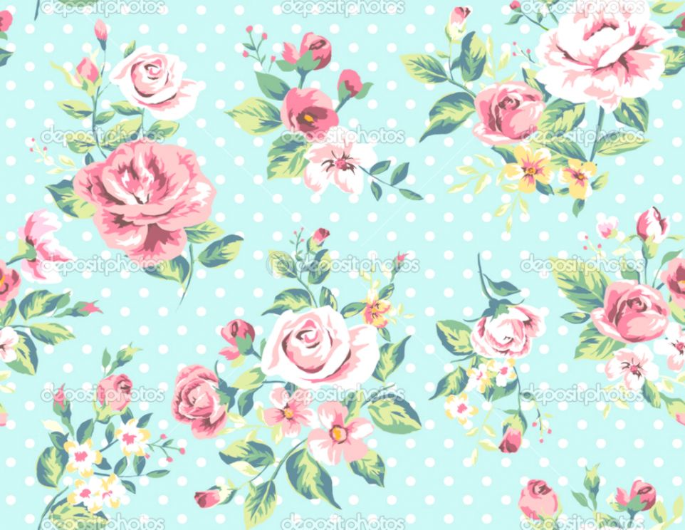 Vintage Floral Floral Awesome Joo Wallpaper Wpt7409862 - Flower Vintage Wallpaper Free - HD Wallpaper