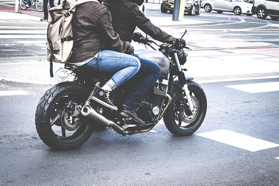 Road, People, Street, Vehicle, Bike, Biker, Drive, - Riding On The Back Of A Motorcycle - HD Wallpaper