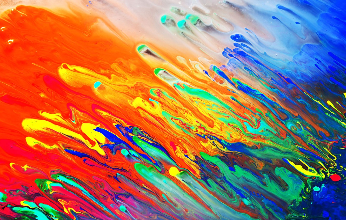 Photo Wallpaper Colors, Colorful, Abstract, Liquid, - Oil On Canvas Abstract Art - HD Wallpaper
