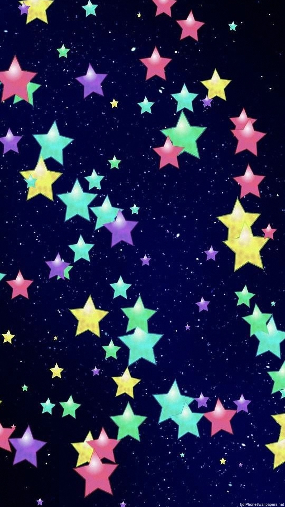1080x1920, Colorful Star Light Iphone 6 Wallpapers - Iphone Backgrounds Colorful Stars - HD Wallpaper