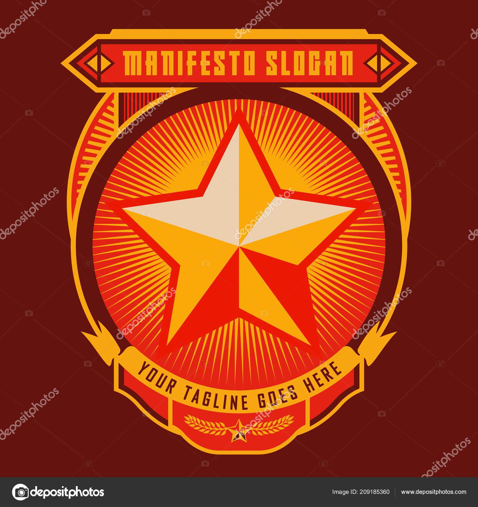 Propaganda Style Logo Badge - HD Wallpaper