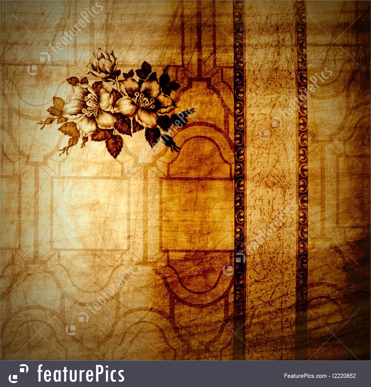 Vintage Background From Shabby Floral Wallpaper - Hardwood - HD Wallpaper