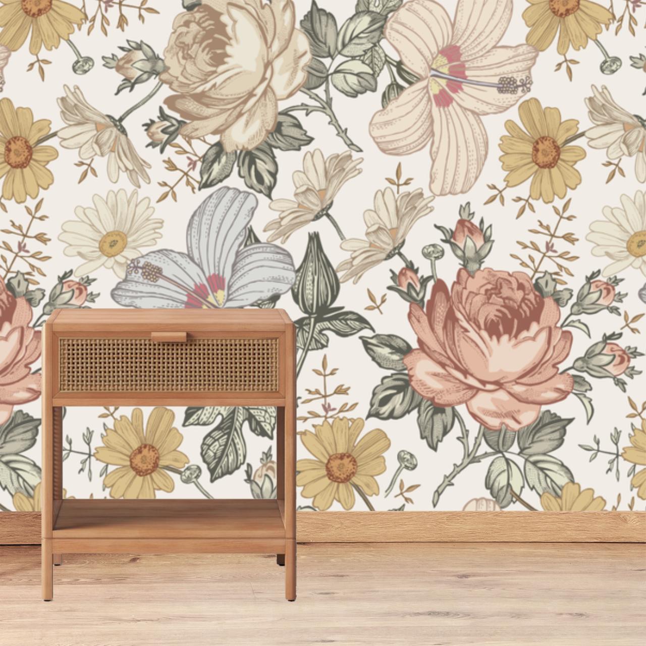 Vintage Floral Crib Sheet - HD Wallpaper