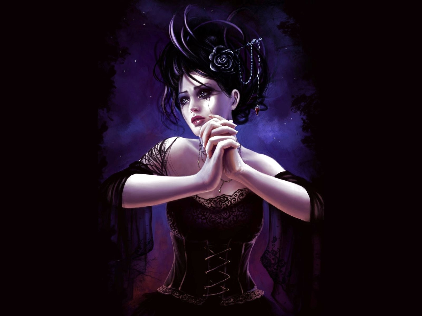 Artwork,960755 Dark, Wallpapers, Original, Cute, Art, - Illustration - HD Wallpaper