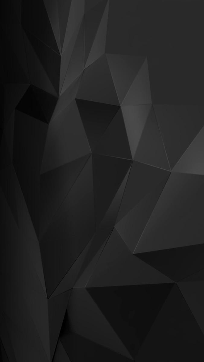Home Screen Wallpaper For Iphone - Black Geometric Phone Background - HD Wallpaper