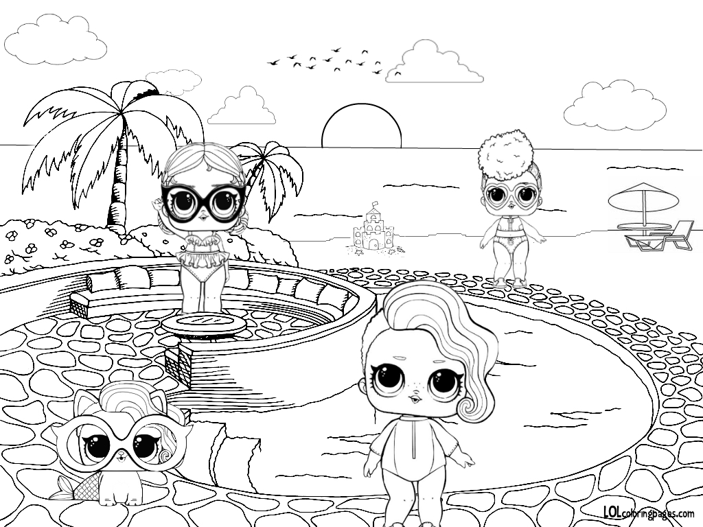 Lol Surprise Dolls Coloring Pages Lol Hair Goals Coloring Pages 1024x768 Wallpaper Teahub Io