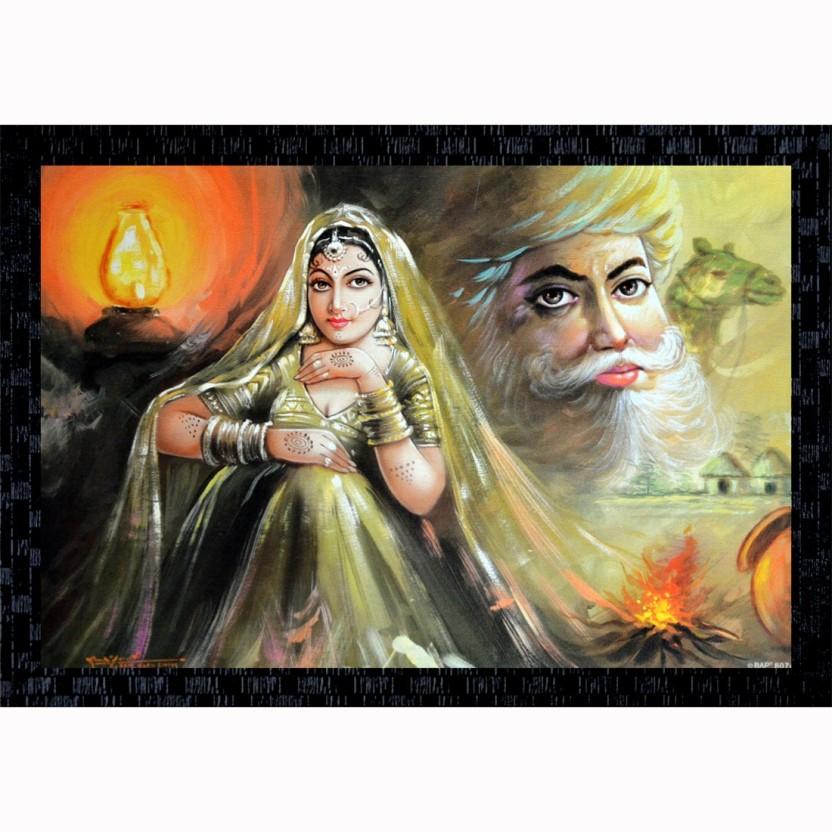 Beautiful Indian Portrait Paintings - HD Wallpaper