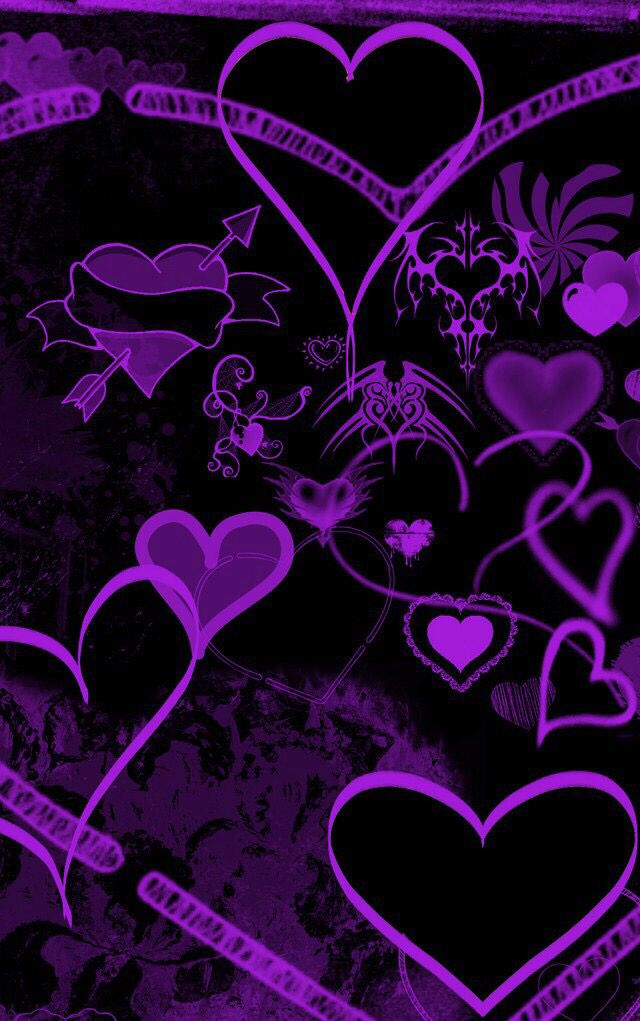 Purple And Black Heart Emoji 640x1021 Wallpaper Teahub Io
