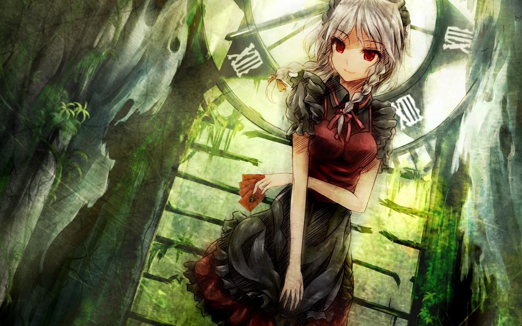 Green Anime Wallpaper - Anime Girls Arts Hd - HD Wallpaper