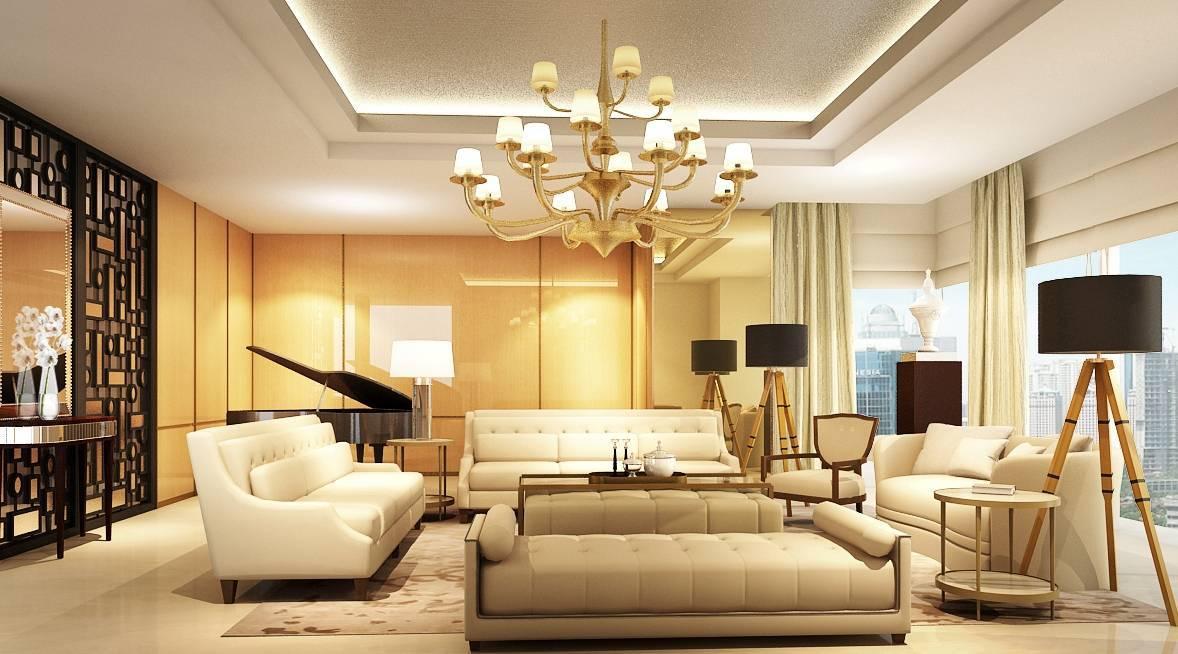 8 Desain Interior Ruang Tamu Mewah Untuk Rumah Klasik - Desain Ruang Tamu Mewah - HD Wallpaper