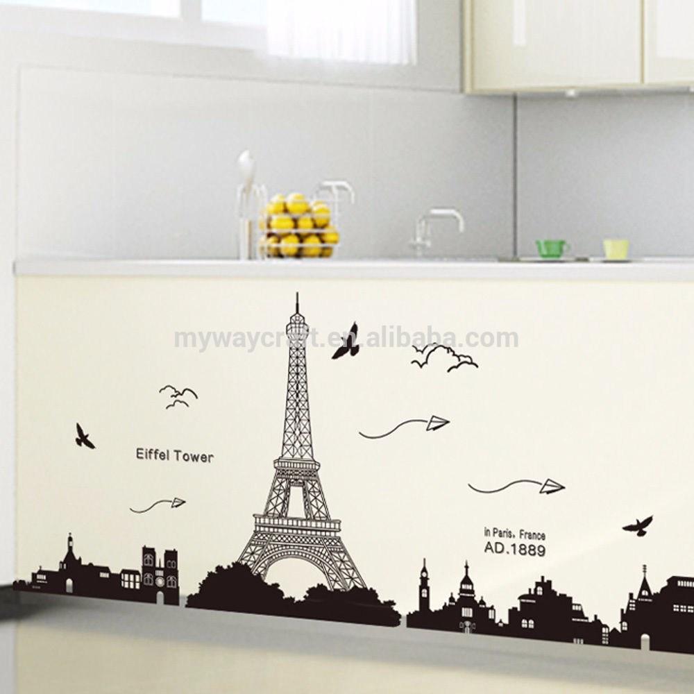 Wallpaper Paris Kartun - 3д Стикер Айфелова Кула - HD Wallpaper