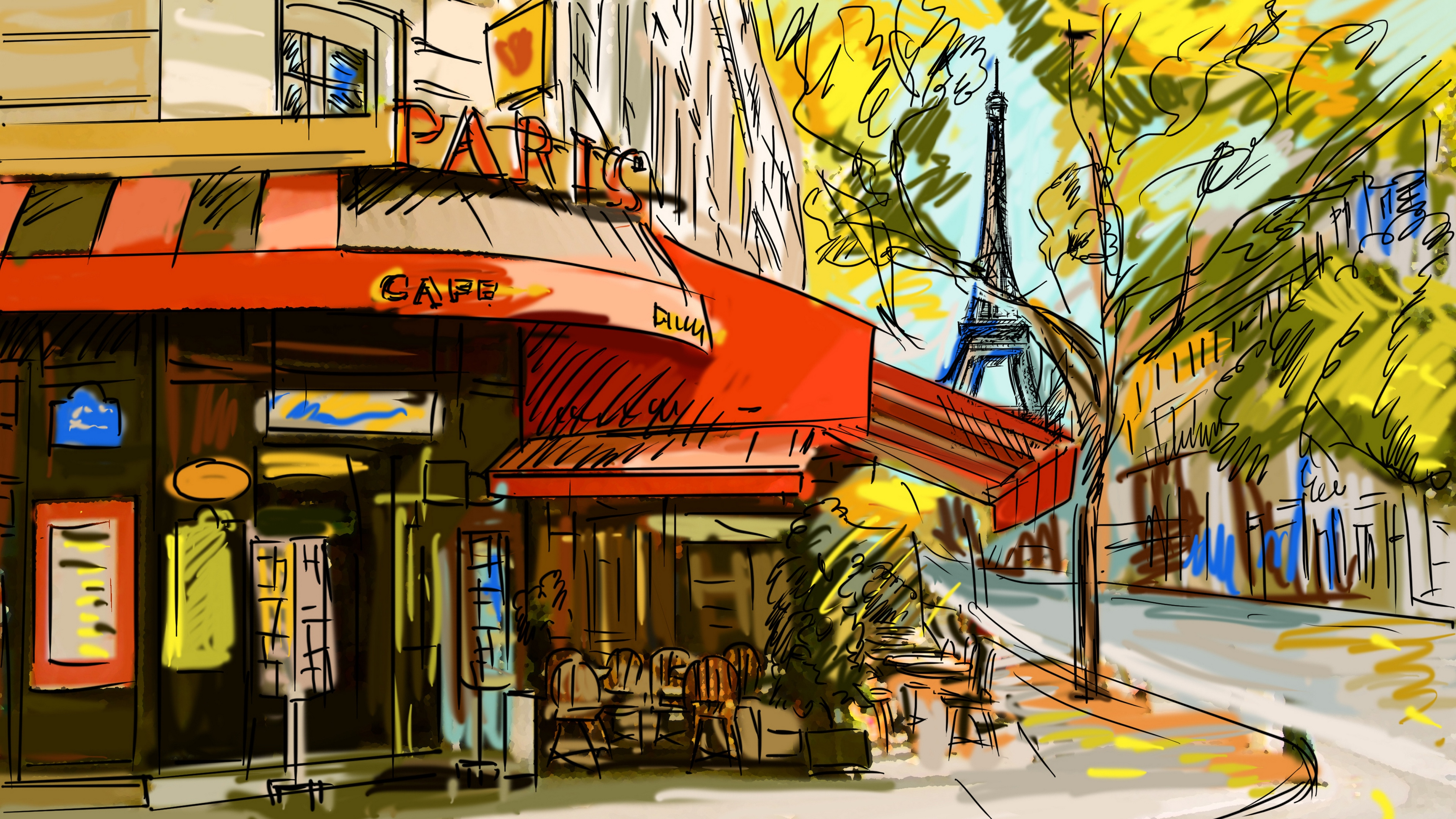 France Cafe Picture Paris 4k Paris Cafe Hd 3840x2160 Wallpaper Teahub Io