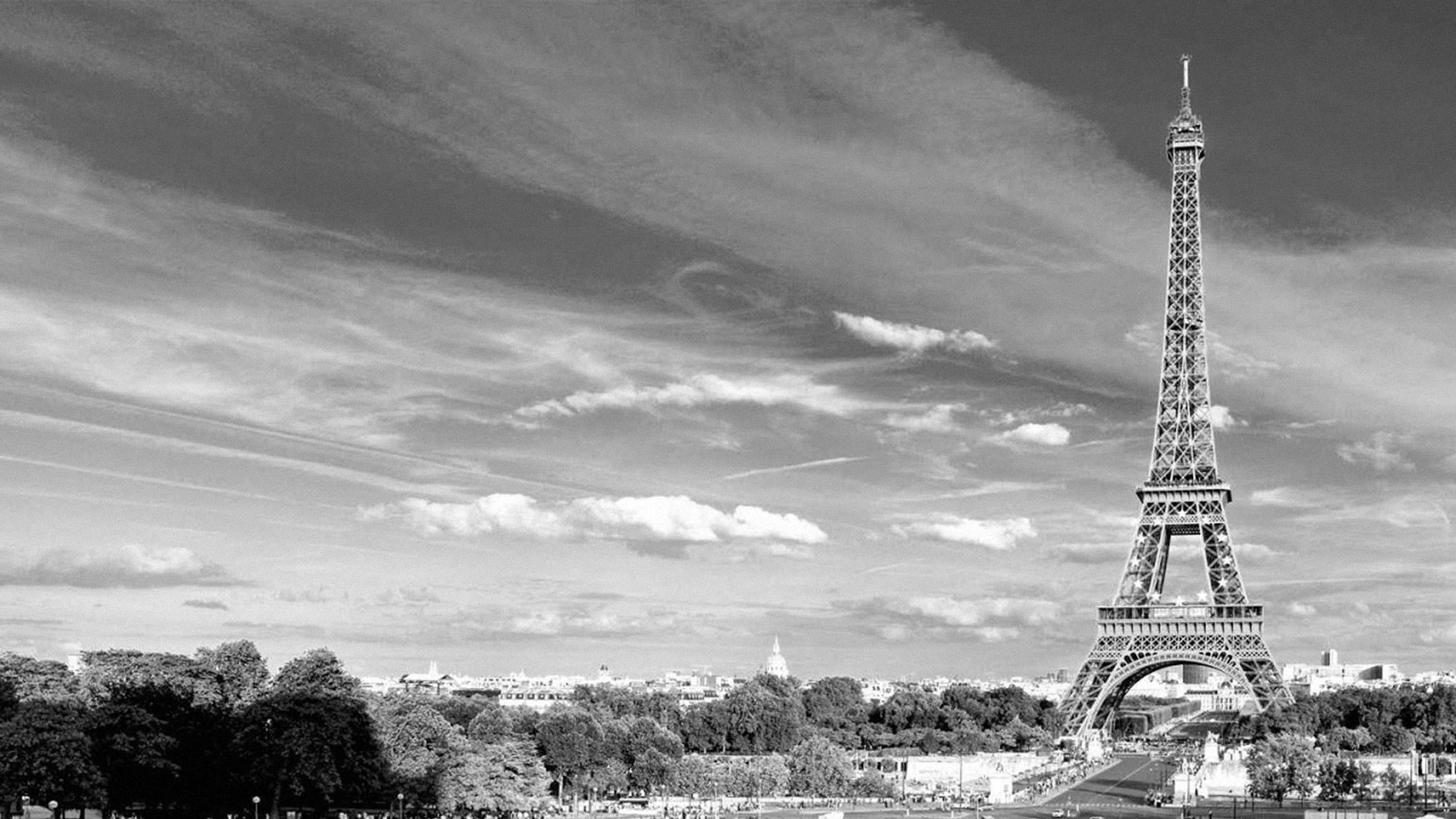 Eiffel Tower Paris Black And White Photos 01 Data Src Paris Background Black And White 2560x1440 Wallpaper Teahub Io