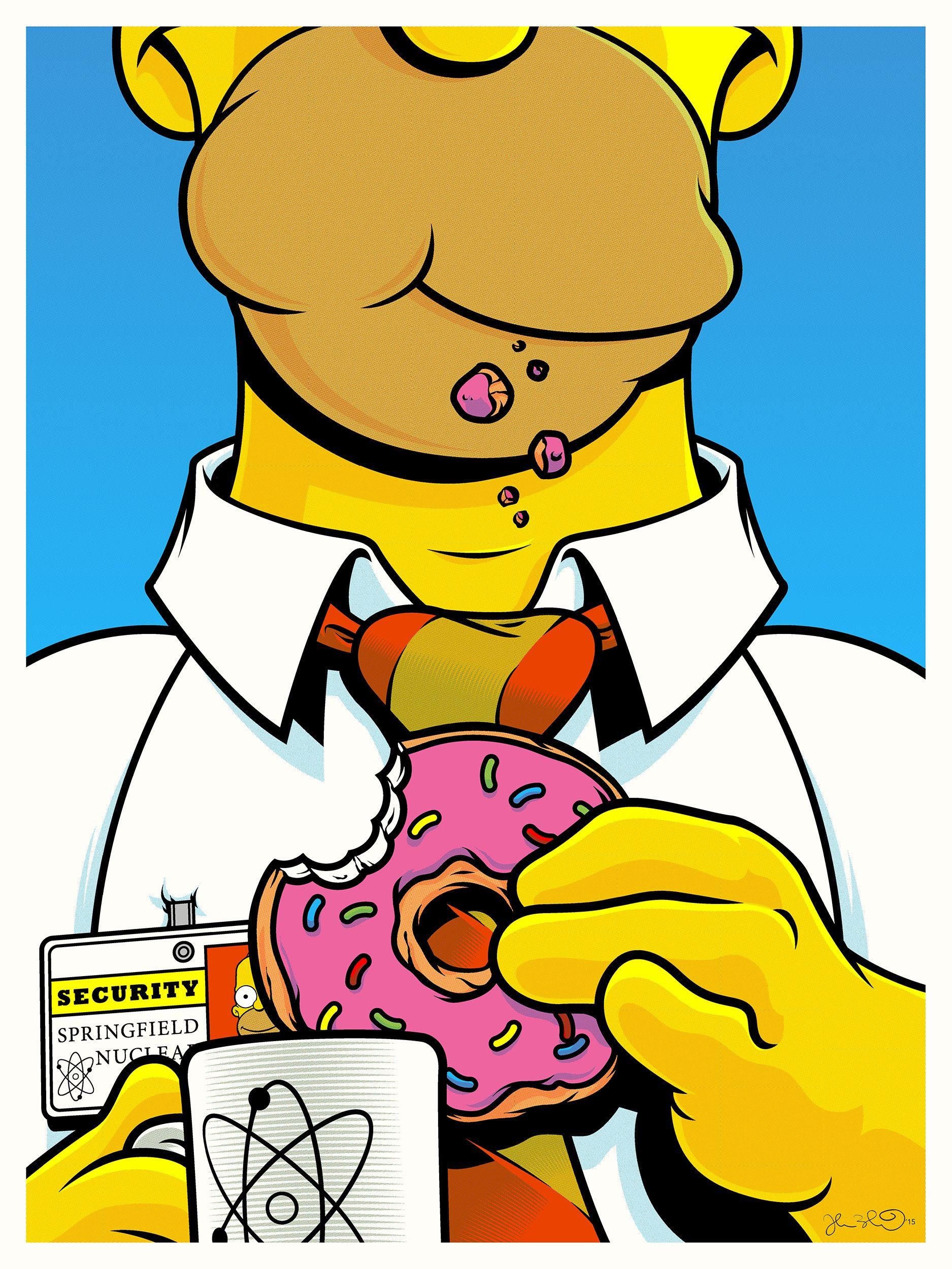Pop Art Homer Simpson - HD Wallpaper