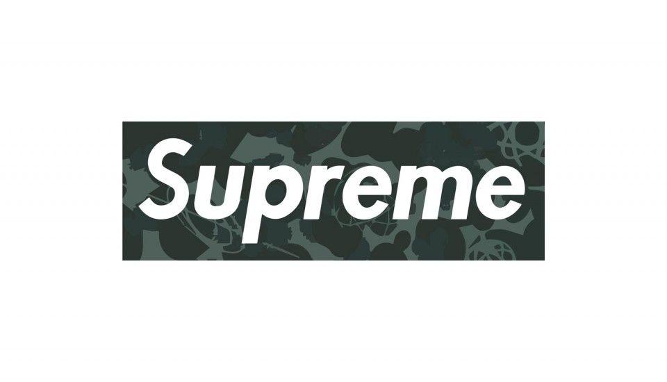 Supreme Logo Black Camo - HD Wallpaper