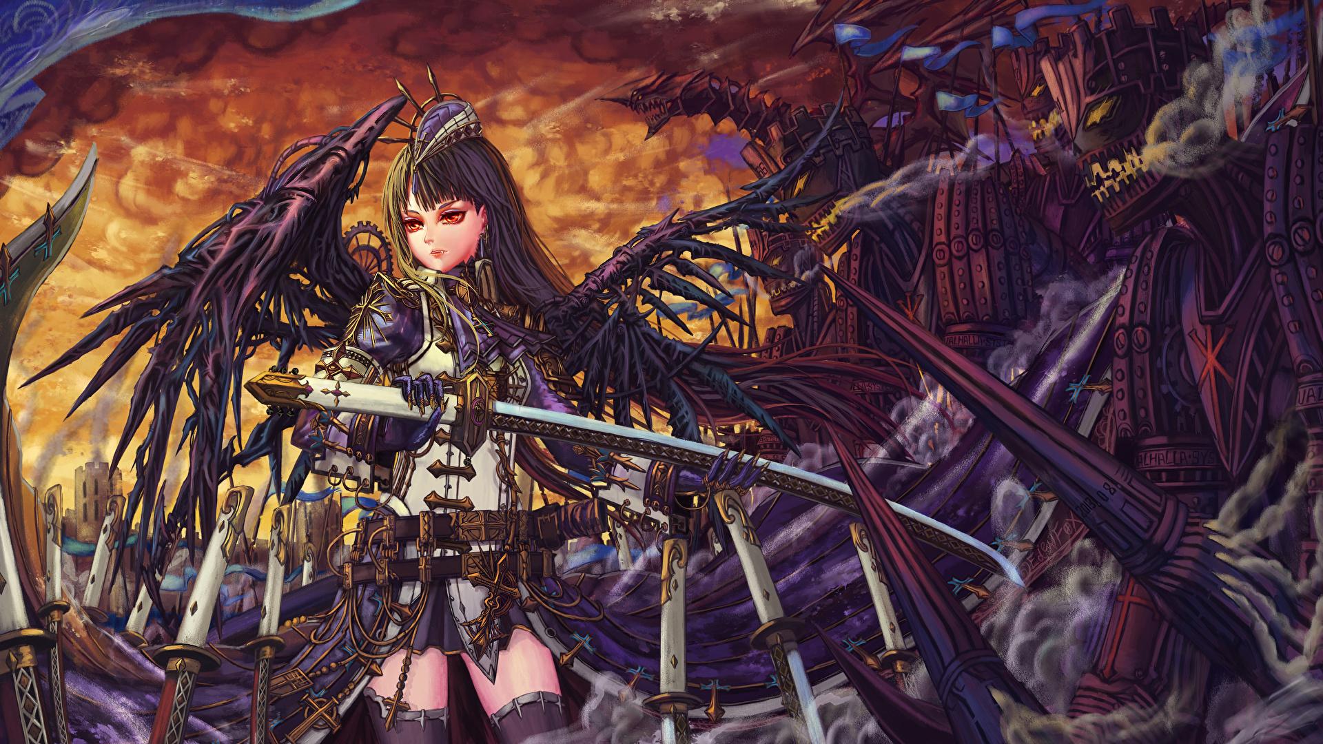 Steampunk Fantasy Anime Girl Art - HD Wallpaper