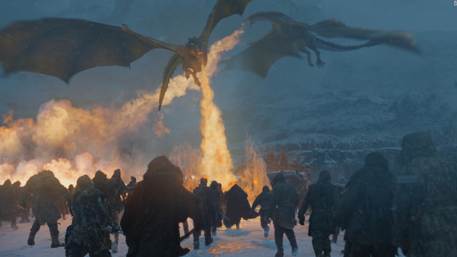 Game Of Thrones Dragons - White Walker Kills Dragon - HD Wallpaper