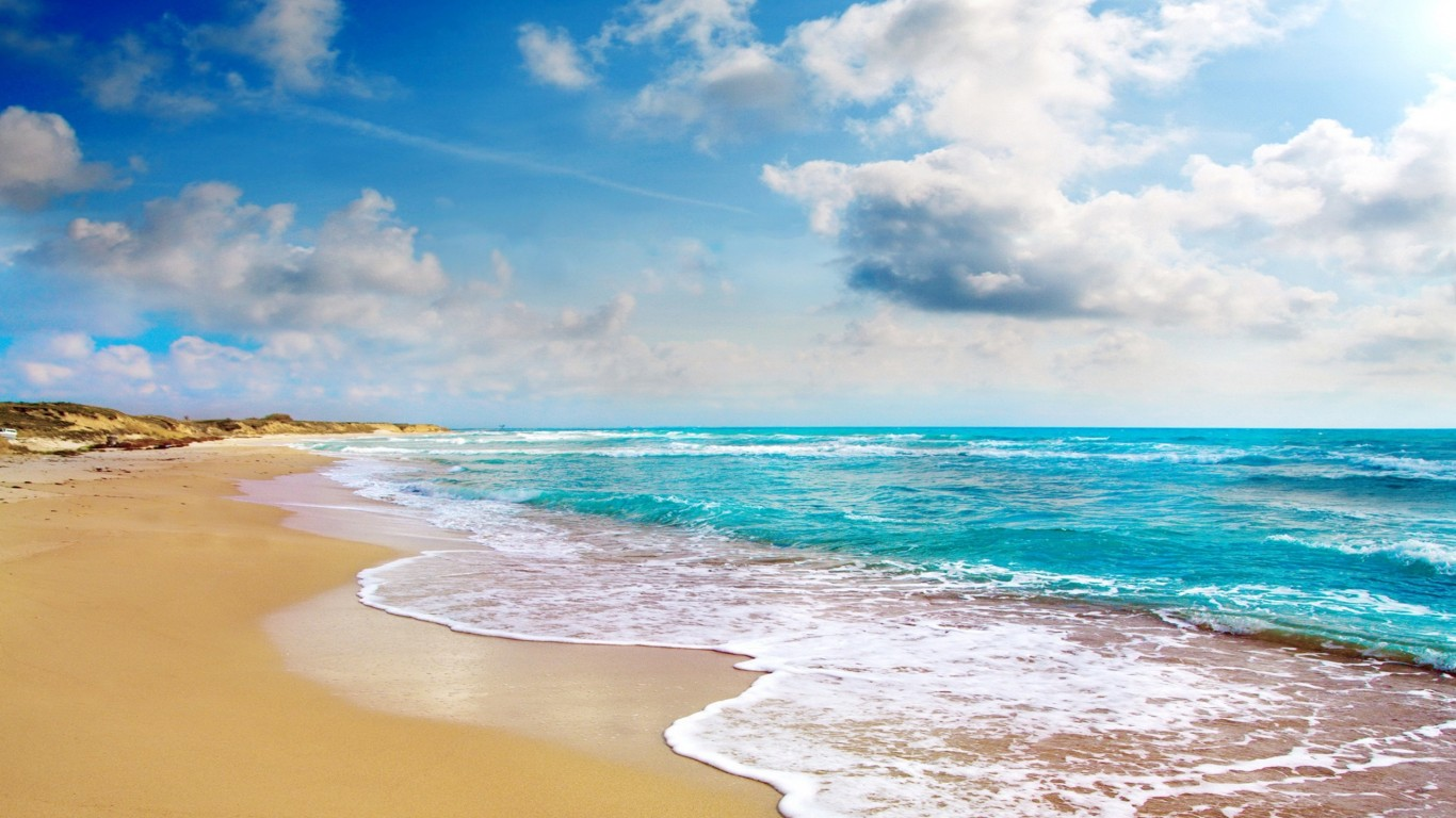Tropical Beach Landscape Wallpapers Related Keywords - High Resolution Beach Sky Background - HD Wallpaper