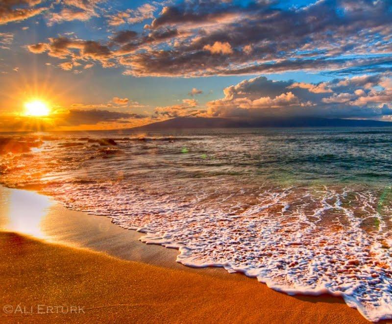 Sunset At Hawaii Beach Wallpaper Beach Sunset High Resolution 800x661 Wallpaper Teahub Io