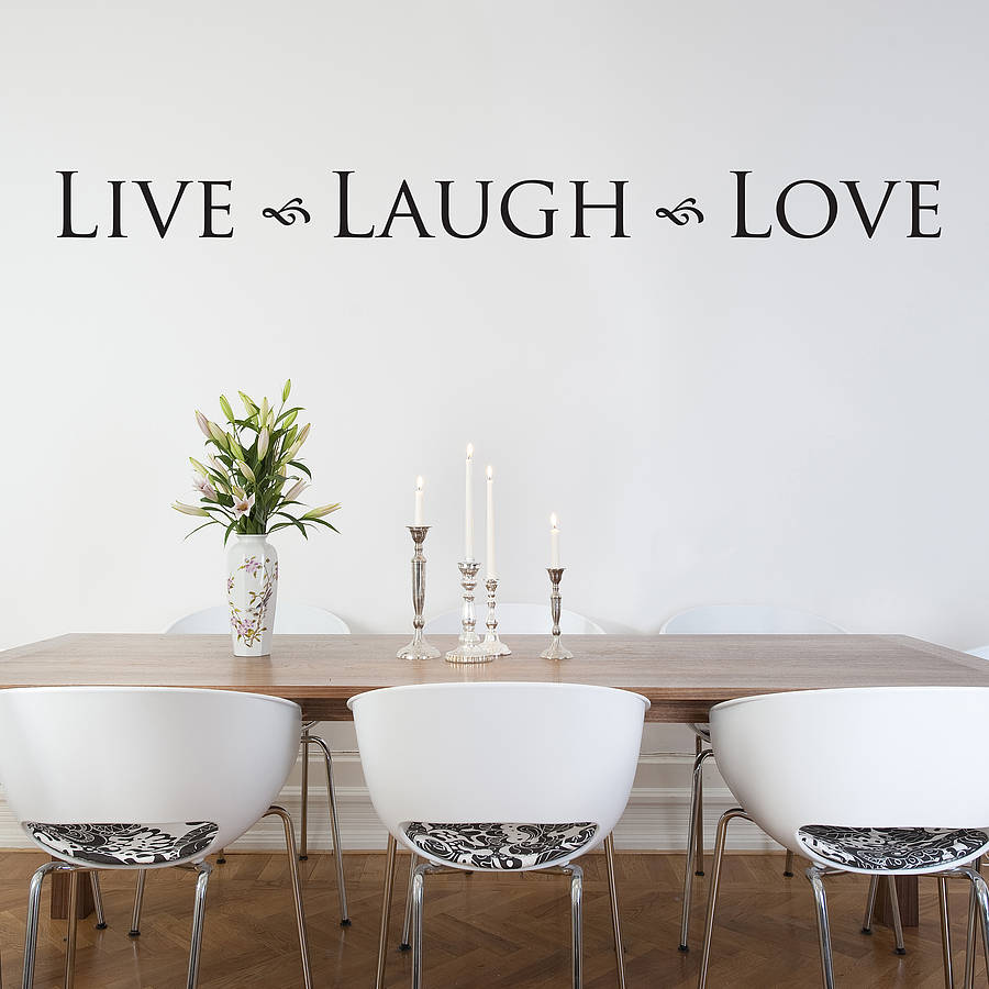 Brilliant Live Laugh Love Wall Art Sticker By Nutmeg - Love Quotes For Husband In Heaven - HD Wallpaper