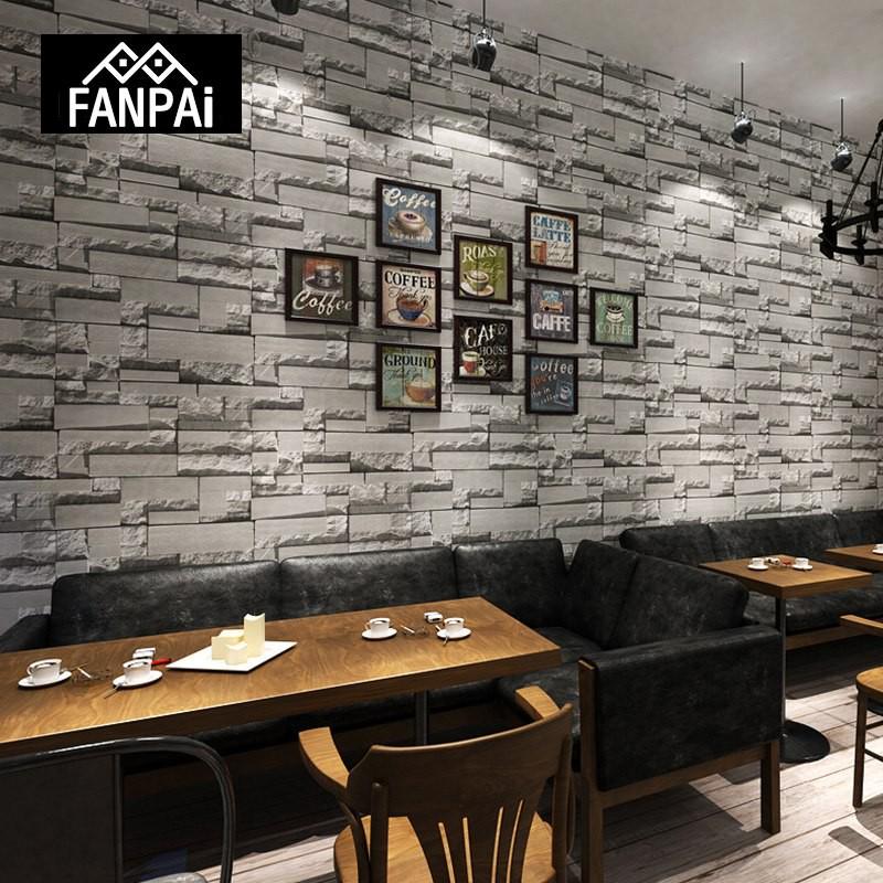 Faux Brick Wall Restaurant - HD Wallpaper