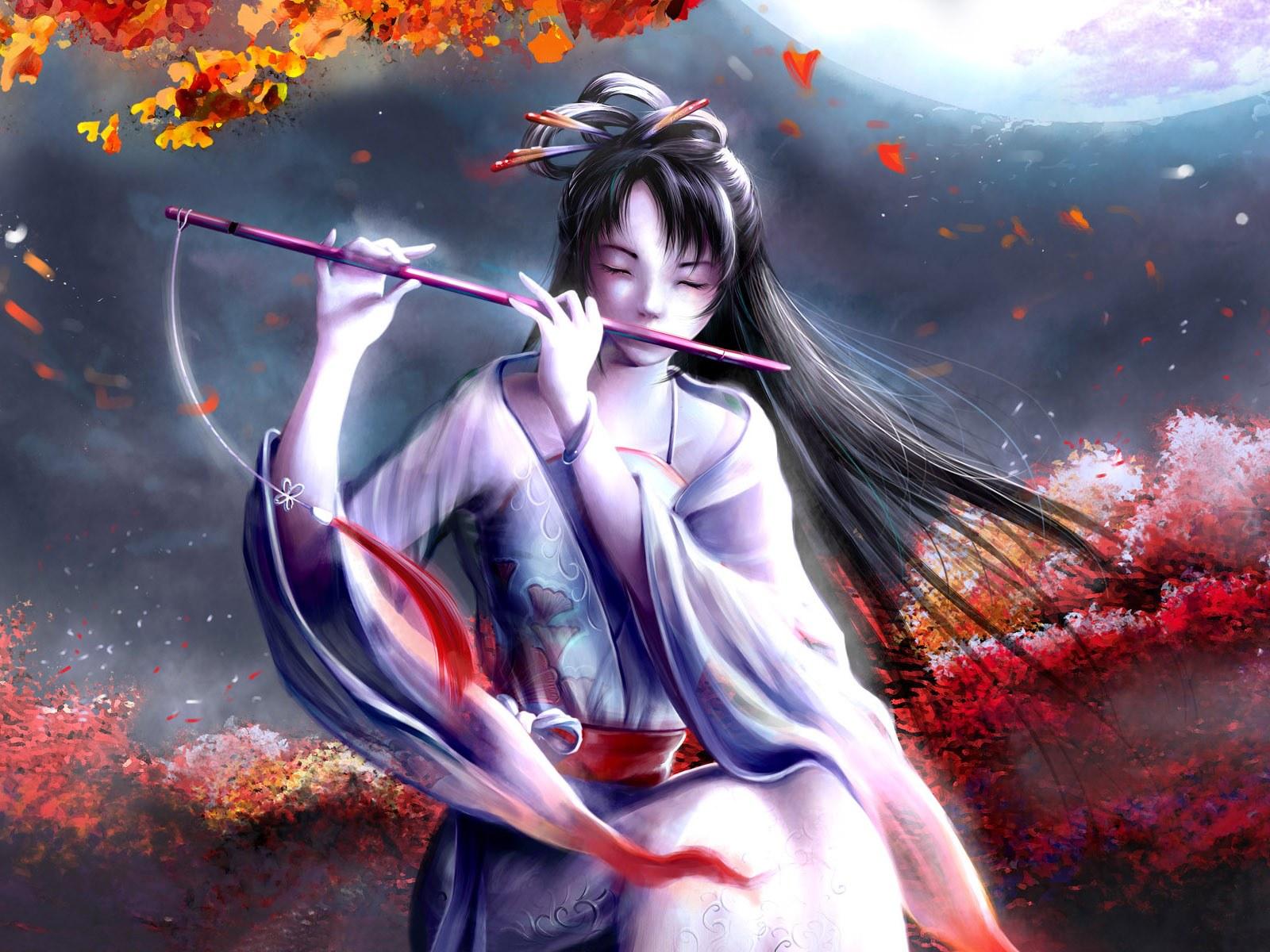 Japanese Girl Wallpaper - Beautiful Japanese Anime Girl