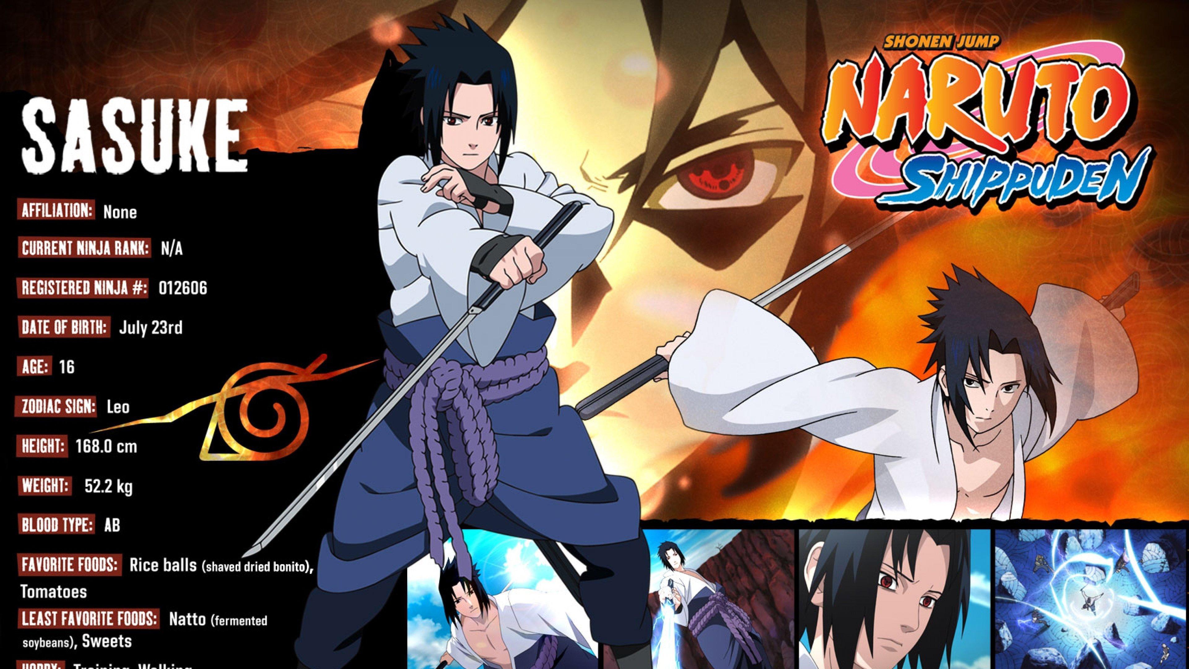 Download Uhd 4k Sasuke Uchiha Pc Wallpaper Id - Naruto Shippuden - HD Wallpaper
