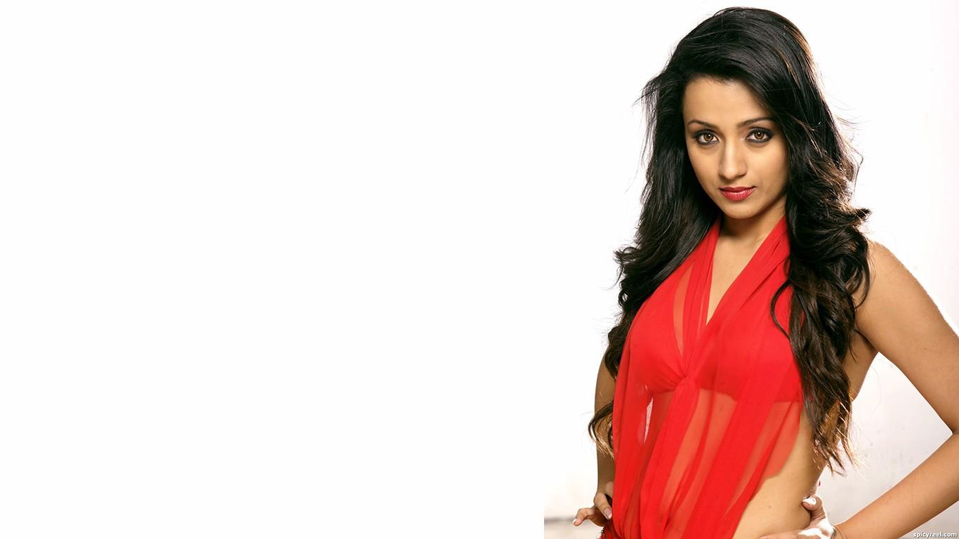 Wallpaper - Indian Lady In Red Dress - HD Wallpaper