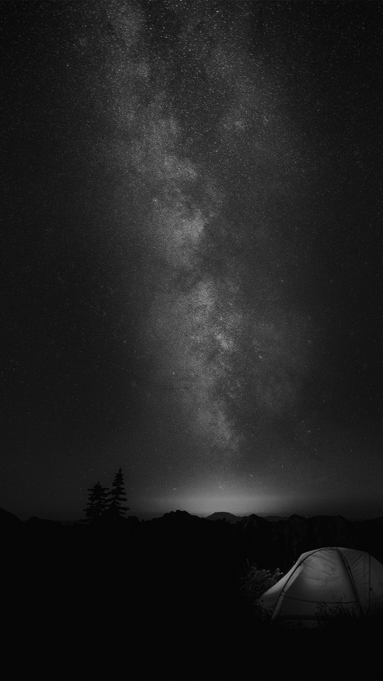 Camping Night Star Galaxy Milky Sky Dark Space Bw Dark Iphone Wallpaper 4k Black 1242x2208 Wallpaper Teahub Io