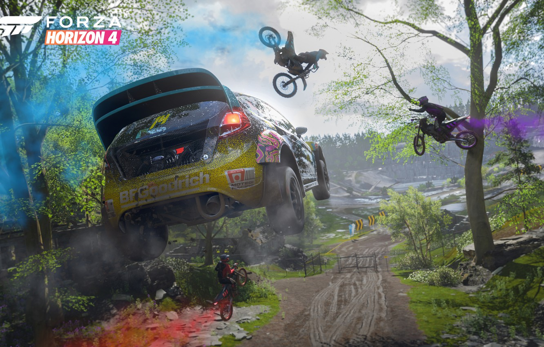 Photo Wallpaper Ford, Microsoft, Game, 2018, Rally, - Forza Horizon 4 Pc 4k - HD Wallpaper