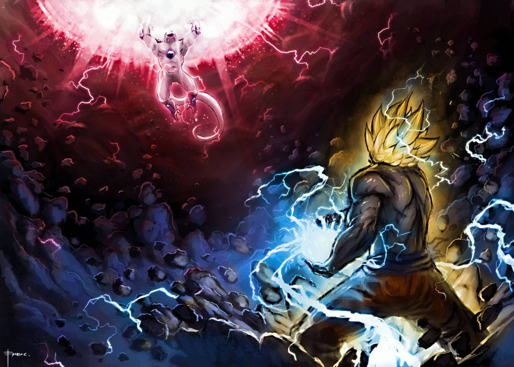 Goku Vs Vegeta Wallpaper Pic Hwb29377 Dragon Ball Z Epic 1024x732 Wallpaper Teahub Io