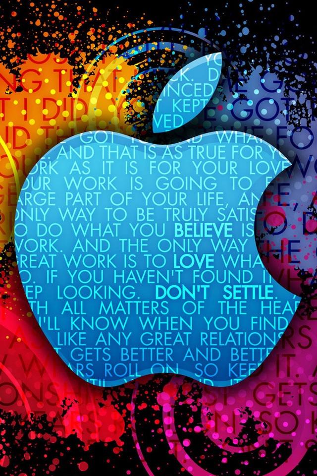 Small Black Apple Logo Hd Wallpaper - Iphone Wallpaper Steve Jobs Quotes - HD Wallpaper