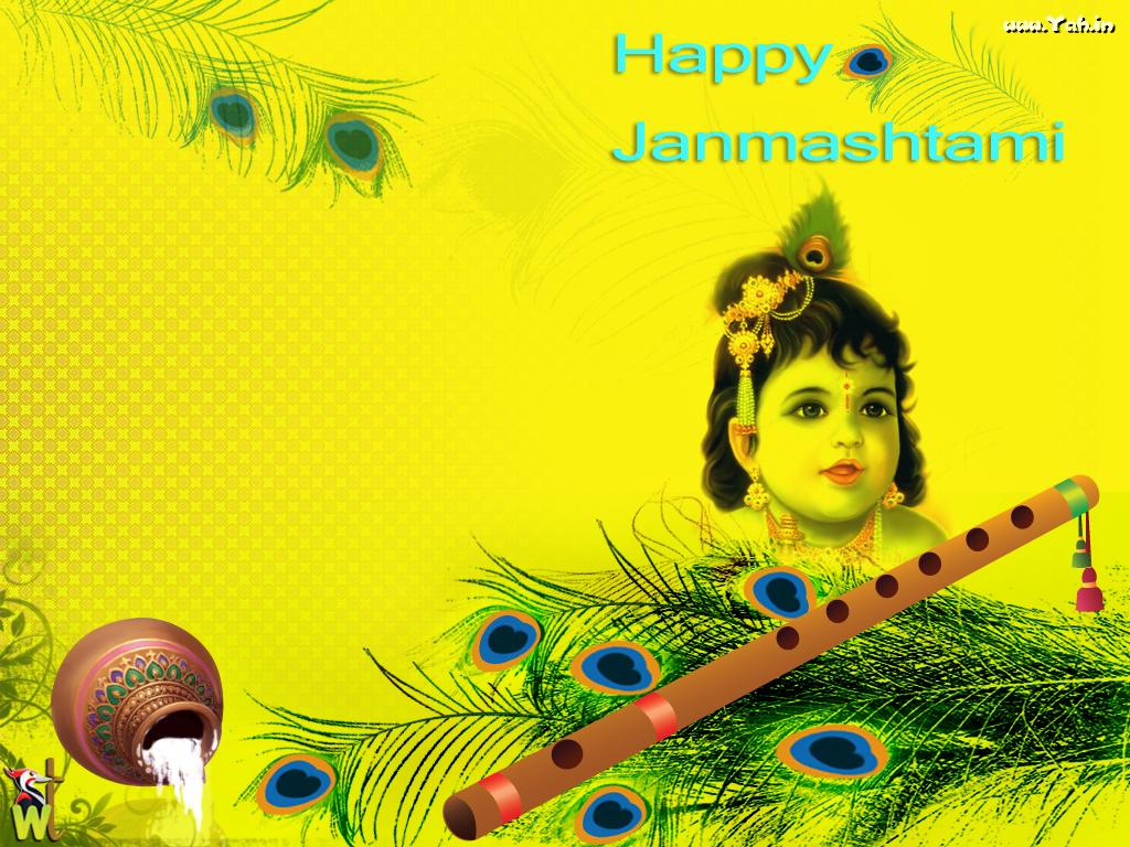 Cute Lord Krishna Wallpaper - Lord Krishna - HD Wallpaper