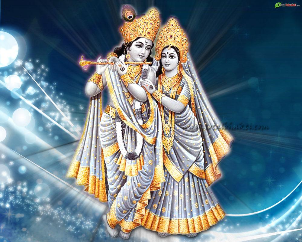 Lord Krishna & Radha - HD Wallpaper