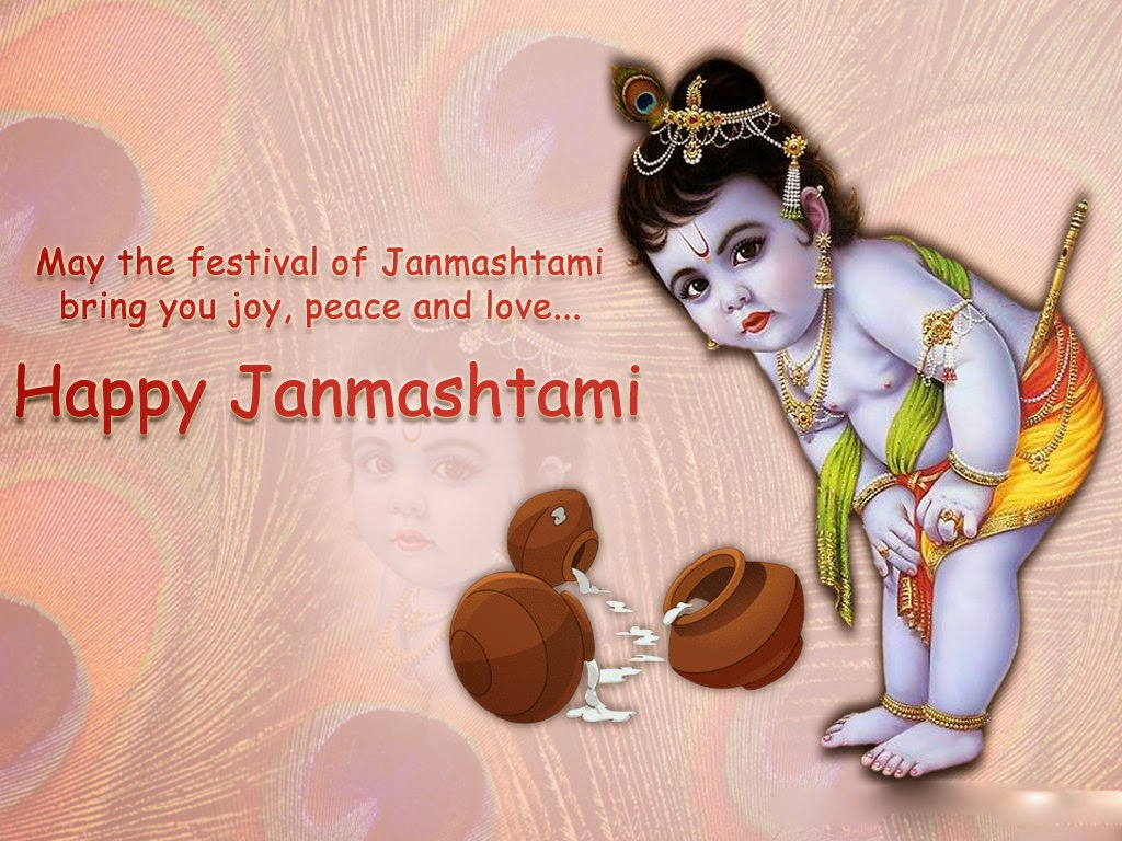 Happy Janmashtami 2014 Kaneya Wishes Photo - Lord Krishna Small - HD Wallpaper
