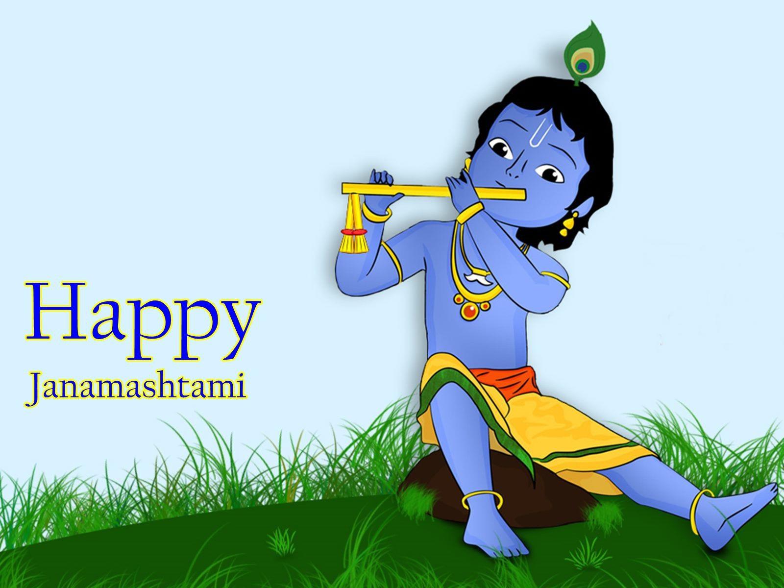 Krishna Birthday Janmashtami High Definition Wallpapers - Krishna Janmashtami Date 2019 - HD Wallpaper
