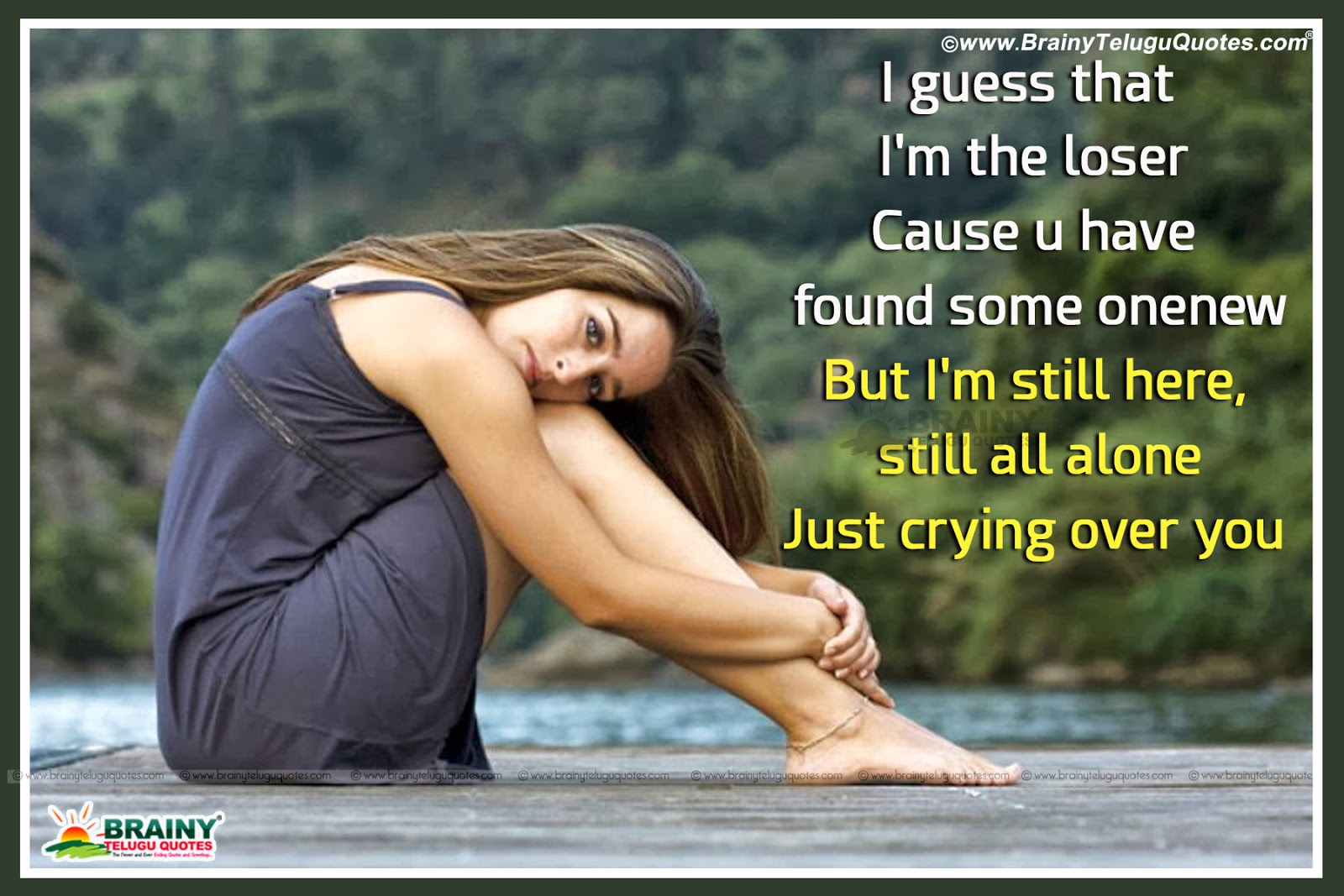 Quotes For Love In English, Love Missing Your Quotes, - Sad Girl In Love - HD Wallpaper