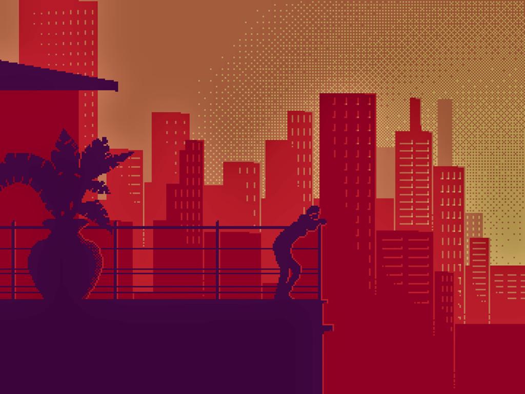 8 Bit Loneliness Red Aesthetic Pixel Background 1024x768 Wallpaper Teahub Io