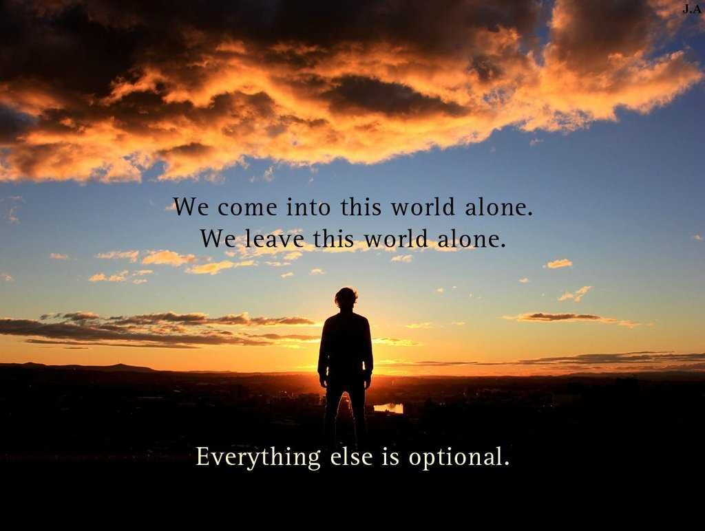 Alone In World Quotes - HD Wallpaper
