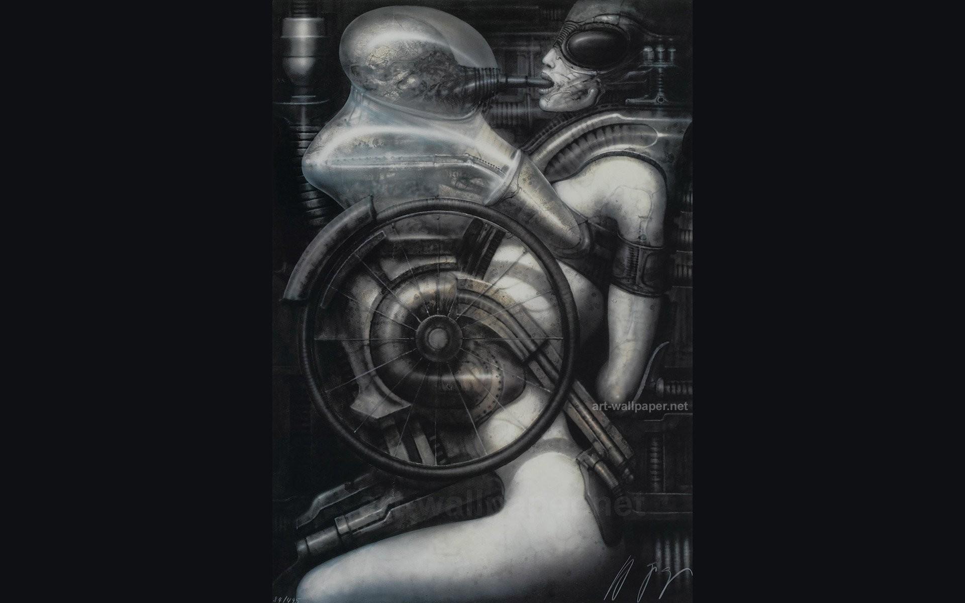 H R Giger Art Artwork Dark Evil Artistic Horror Fantasy - Hr Giger Sex Art - HD Wallpaper