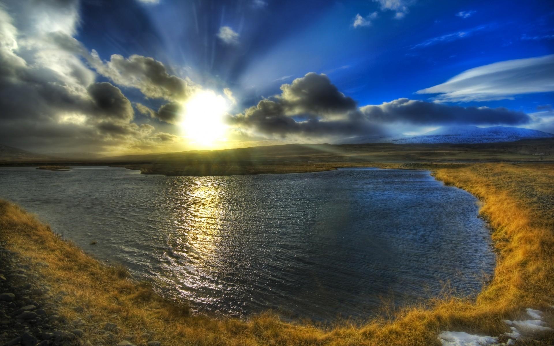 Europe Water Sunset Landscape Reflection Dawn Evening - Landscape Images 1200 Pixel - HD Wallpaper