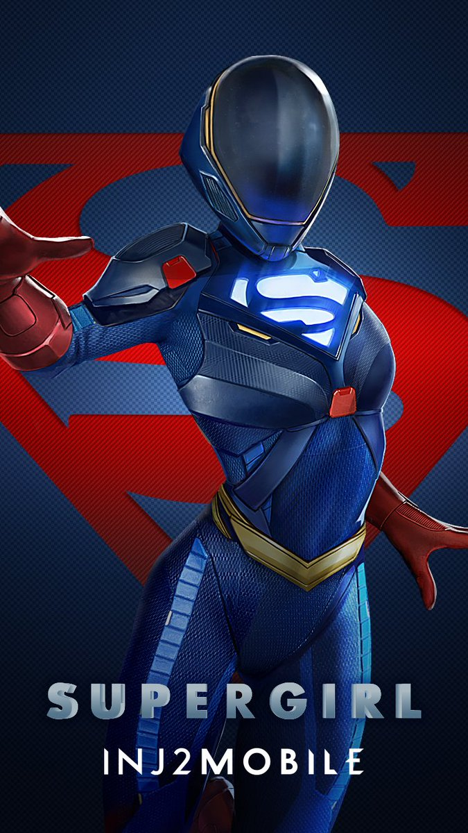 Armored Supergirl Injustice 2 Mobile - HD Wallpaper