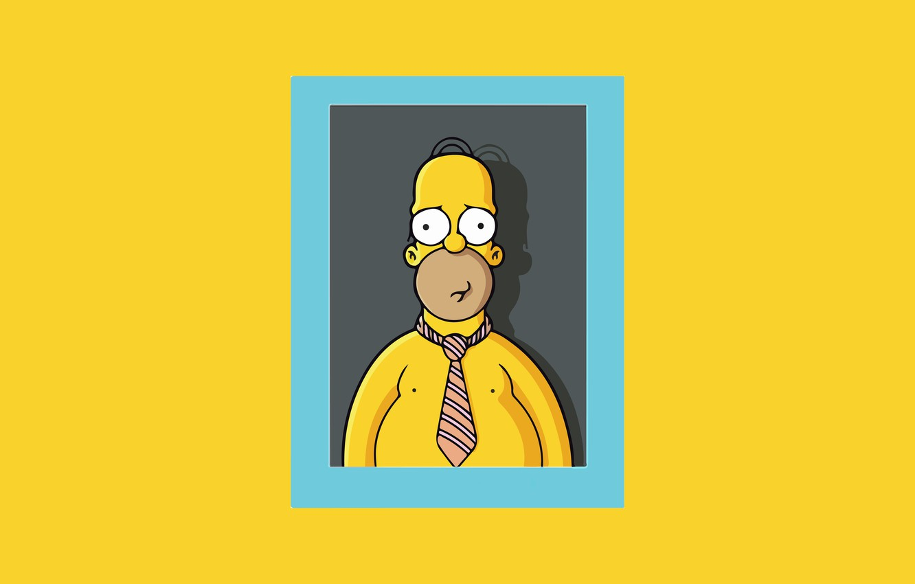 Photo Wallpaper The Simpsons, Figure, Frame, Homer, - Homer Simpson Minimalist Wallpaper Pc - HD Wallpaper