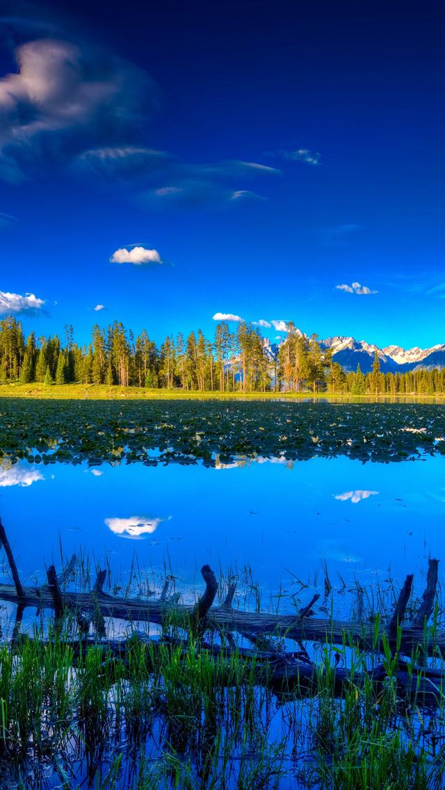 Blue Landscape Iphone Wallpaper - Laptop Nature Hd Wallpapers For Windows 10 - HD Wallpaper