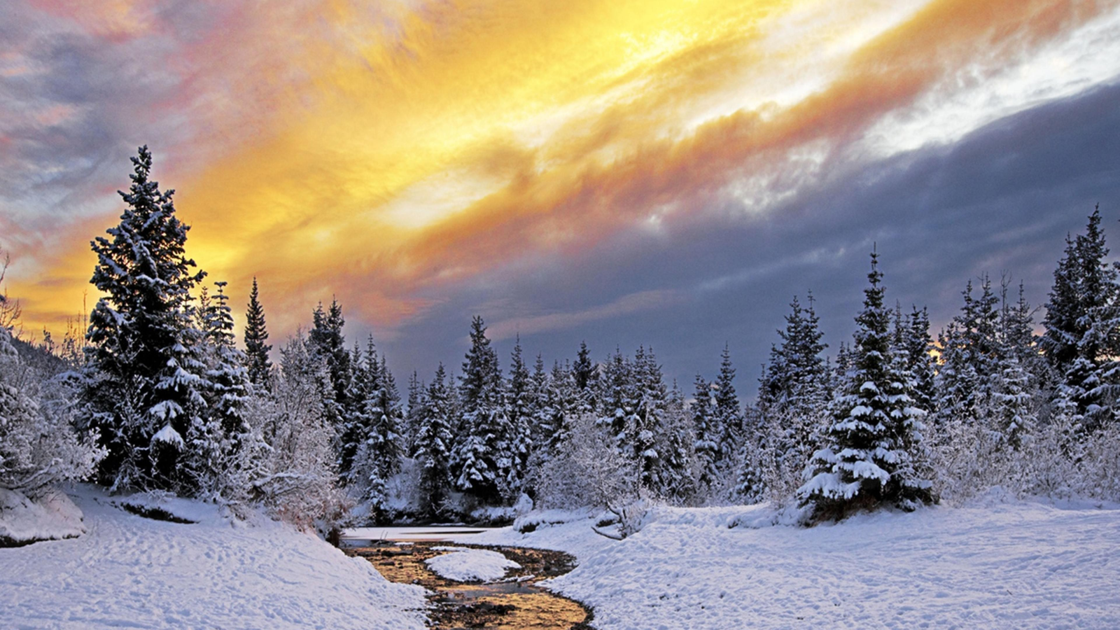 3840x2160 Winter Nature Snow Landscape River Ultra Winter Mac Desktop Backgrounds 3840x2160 Wallpaper Teahub Io