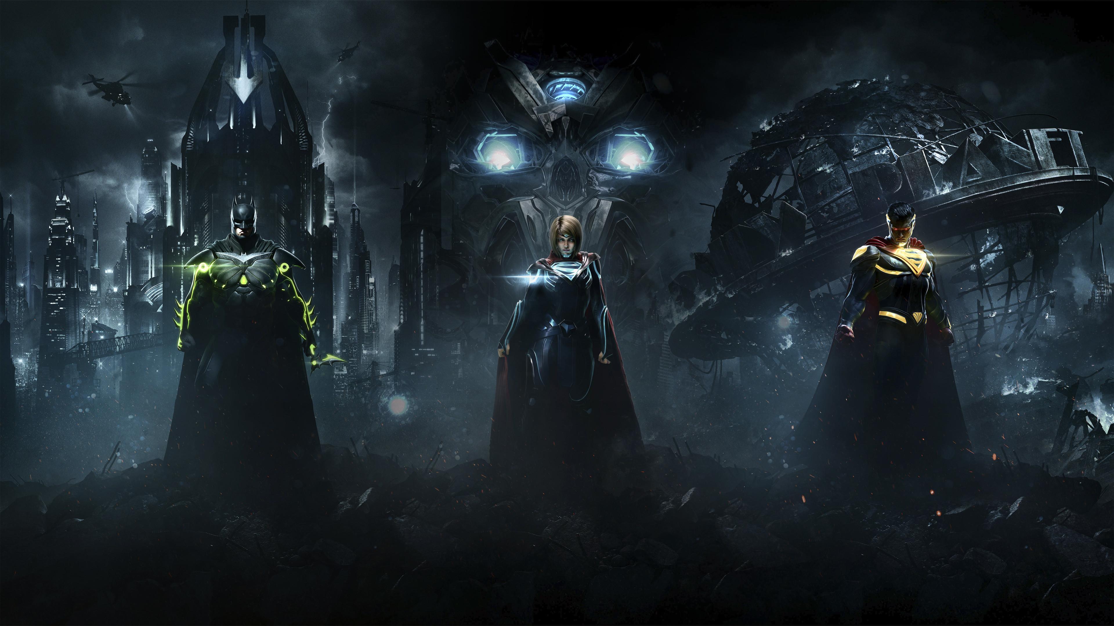 3840x2160 Injustice 2 Superman Supergirl Batman Combine Injustice 2 3840x2160 Wallpaper Teahub Io