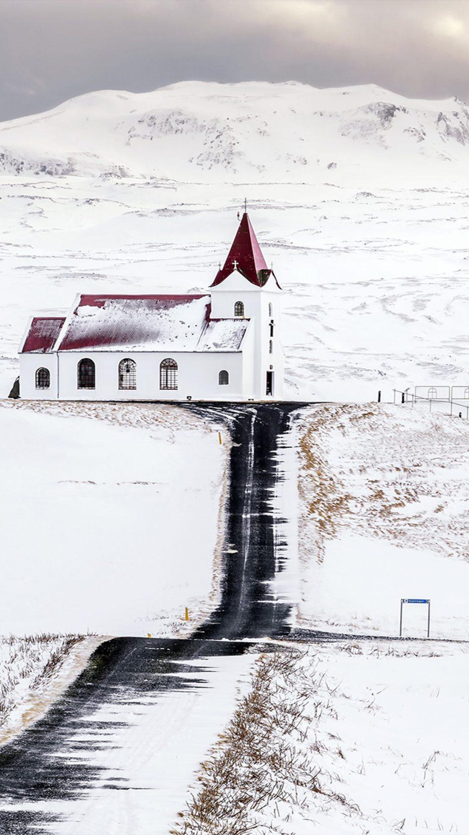 Church Snow Landscape 4k Ultra Hd Mobile Wallpaper - 4k Ultra Hd Snow Wallpaper 4k - HD Wallpaper
